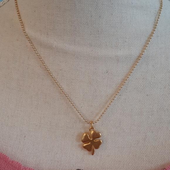 Foxy Originals lucky four leaf clover necklace *